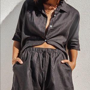 Black Linen Shorts - Size Small -BNWT